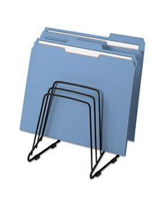 """FEL69712 WIRE STEP FILE II, 5 SECTIONS, LETTER TO LEGAL SIZE FILES, 7.25"""" X 6"""" X 8.25"""", BLACK"""