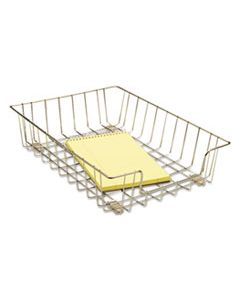 """FEL60012 WIRE DESK TRAY ORGANIZER, 1 SECTION, LETTER SIZE FILES, 10"""" X 14.13"""" X 3"""", SILVER"""