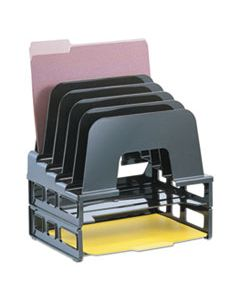 """OIC22112 INCLINE SORTER, 5 SECTIONS, LETTER SIZE FILES, 9.13"""" X 13.5"""" X 14"""", BLACK"""