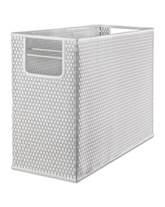 """AOPART20010WH URBAN COLLECTION PUNCHED METAL DESKTOP FILE, 1 SECTION, LETTER TO LEGAL SIZE FILES, 13"""" X 5.75"""" X 10.75"""", WHITE"""