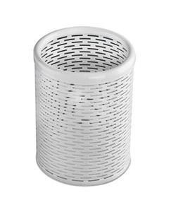 AOPART20005WH URBAN COLLECTION PUNCHED METAL PENCIL CUP, 3 1/2 X 4 1/2, WHITE