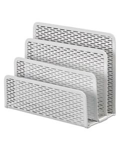 """AOPART20003WH URBAN COLLECTION PUNCHED METAL LETTER SORTER, 3 SECTIONS, DL TO A6 SIZE FILES, 6.5"""" X 3.25"""" X 5.5"""", WHITE"""