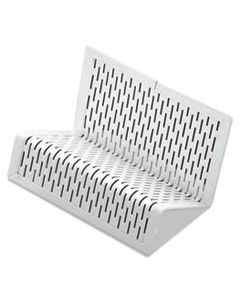 AOPART20001WH URBAN COLLECTION PUNCHED METAL BUSINESS CARD HOLDER, HOLDS 50 2 X 3 1/2, WHITE