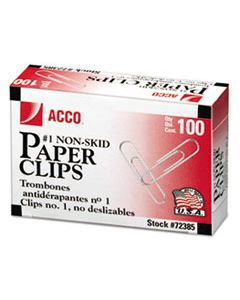 ACC72385 PAPER CLIPS, SMALL (NO. 1), SILVER, 1,000/PACK