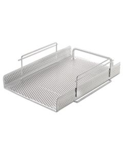 """AOPART20002WH URBAN COLLECTION PUNCHED METAL LETTER TRAY, 1 SECTION, LETTER SIZE FILES, 10"""" X 13.75"""" X 3.5"""", WHITE"""