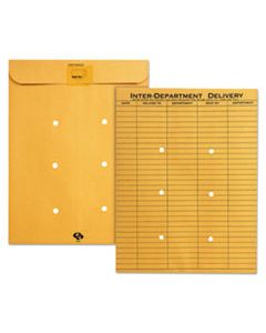 QUA63664 BROWN KRAFT RESEALABLE REDI-TAC INTEROFFICE ENVELOPE, #97, ONE-SIDED FIVE-COLUMN FORMAT, 10 X 13, BROWN KRAFT, 100/BOX