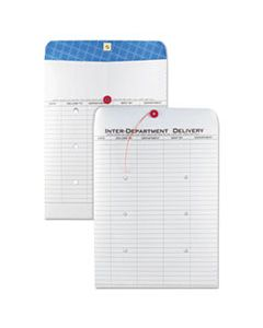 QUA63663 INTER-DEPARTMENT ENVELOPE, #97, TWO-SIDED FIVE-COLUMN FORMAT, 10 X 13, WHITE, 100/BOX