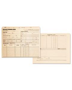 QUA69999 EMPLOYEE RECORD JACKET, STRAIGHT TAB, LETTER SIZE, MANILA, 100/BOX