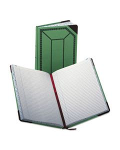 BOR6718300R RECORD/ACCOUNT BOOK, RECORD RULE, GREEN/RED, 300 PAGES, 12 1/2 X 7 5/8