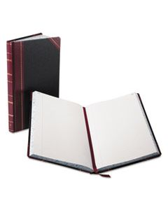 BOR9300R RECORD/ACCOUNT BOOK, BLACK/RED COVER, 300 PAGES, 14 1/8 X 8 5/8