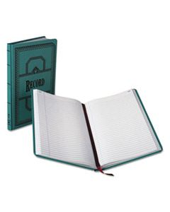 BOR66300R RECORD/ACCOUNT BOOK, RECORD RULE, BLUE, 300 PAGES, 12 1/8 X 7 5/8