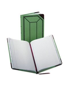 BOR6718150R RECORD/ACCOUNT BOOK, RECORD RULE, GREEN/RED, 150 PAGES, 12 1/2 X 7 5/8