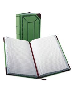 BOR6718500R RECORD/ACCOUNT BOOK, RECORD RULE, GREEN/RED, 500 PAGES, 12 1/2 X 7 5/8