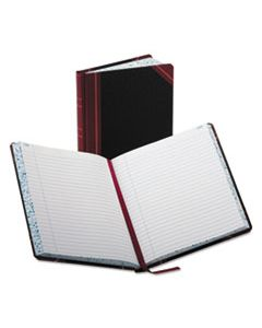 BOR38300R RECORD/ACCOUNT BOOK, RECORD RULE, BLACK/RED, 300 PAGES, 9 5/8 X 7 5/8