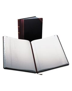 BOR23300R RECORD RULED BOOK, BLACK COVER, 300 PAGES, 10 7/8 X 14 1/8