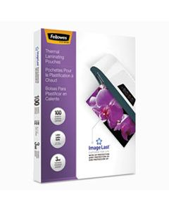 """FEL52454 IMAGELAST LAMINATING POUCHES WITH UV PROTECTION, 3 MIL, 9"""" X 11.5"""", CLEAR, 100/PACK"""