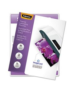 """FEL52225 IMAGELAST LAMINATING POUCHES WITH UV PROTECTION, 3 MIL, 9"""" X 11.5"""", CLEAR, 50/PACK"""