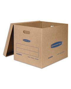"FEL7718201 SMOOTHMOVE CLASSIC MOVING & STORAGE BOXES, LARGE, HALF SLOTTED CONTAINER (HSC), 21"" X 17"" X 17"", BROWN KRAFT/BLUE, 5/CARTON"