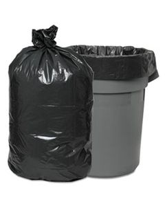 """BWK528 LOW-DENSITY WASTE CAN LINERS, 60 GAL, 0.95 MIL, 38"""" X 58"""", GRAY, 100/CARTON"""