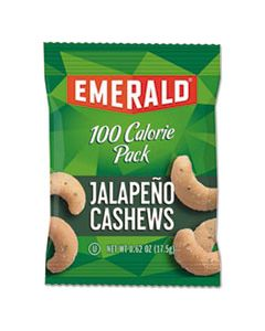 DFD33625 100 CALORIE PACK NUTS, JALAPENO CASHEWS, 0.62 OZ PACK, 7/BOX