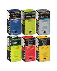 BTC15577 ASSORTED TEA PACKS, SIX FLAVORS, 28/BOX, 168/CARTON