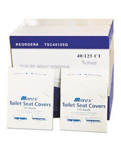 GENTSC40125Q QUARTER-FOLD TOILET SEAT COVERS, WHITE, 14 1/2 X 16 1/2, 5000/CARTON