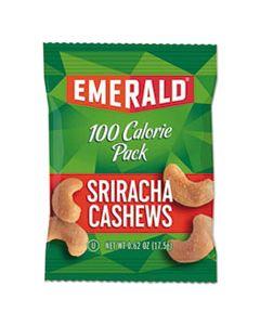 DFD33825 100 CALORIE PACK NUTS, SRIRACHA CASHEWS, 0.62 OZ PACK, 7/BOX