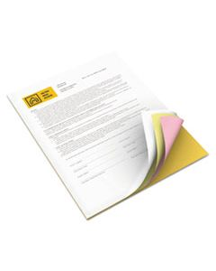 XER3R12430 REVOLUTION CARBONLESS 4-PART PAPER, 8.5X11, CANARY/GOLDENROD/PINK/WHITE, 5, 000/CARTON