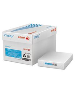 XER3R11376 VITALITY 100% RECYCLED MULTIPURPOSE PAPER, 92 BRIGHT, 20LB, 8.5 X 11, WHITE, 500 SHEETS/REAM, 10 REAMS/CARTON