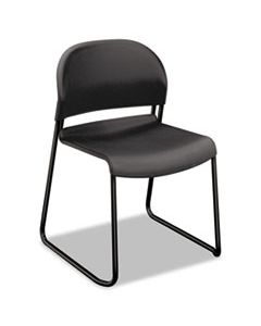 HON4031LAT GUESTSTACKER HIGH DENSITY CHAIRS, LAVA SEAT/LAVA BACK, BLACK BASE, 4/CARTON