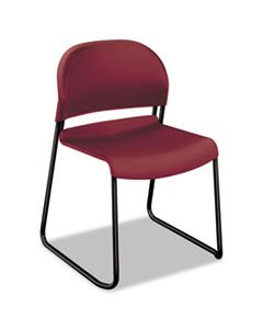 HON4031MBT GUESTSTACKER HIGH DENSITY CHAIRS, MULBERRY SEAT/MULBERRY BACK, BLACK BASE, 4/CARTON