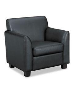 "BSXVL871SB11 CIRCULATE RECEPTION SEATING CLUB CHAIR, 33"" X 28.75"" X 32"", BLACK SEAT/BLACK BACK, BLACK BASE"