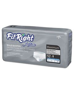 """MIIMSCMG02 FITRIGHT ACTIVE MALE GUARDS, 6"""" X 11"""", WHITE, 52/PACK"""