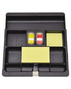 MMMC71 RECYCLED PLASTIC DESK DRAWER ORGANIZER TRAY, PLASTIC, BLACK