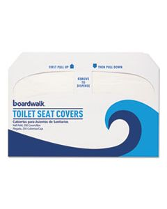 BWKK1000 PREMIUM HALF-FOLD TOILET SEAT COVERS, 250 COVERS/SLEEVE, 4 SLEEVES/CARTON