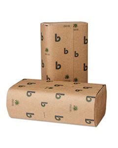 BWK10GREEN BOARDWALK GREEN MULTIFOLD TOWELS, NATURAL WHITE, 9 1/8 X 9 1/2, 250/PK, 16 PK/CT