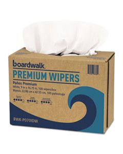 BWKP070IDW HYDROSPUN WIPERS, WHITE, 9 X 16 3/4, 10 PACK DISPENSERS OF 100, 1000/CARTON