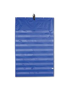CDP158158 ESSENTIAL POCKET CHART, 10 CLEAR & 1 STORAGE POCKET, GROMMETS, BLUE, 31 X 42
