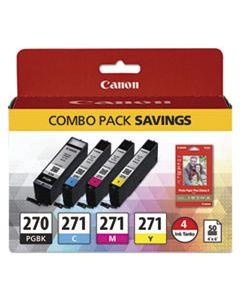 CNM0373C005 0373C005 (PGI-270/CLI-271) INK/PAPER COMBO, BLACK/TRI-COLOR