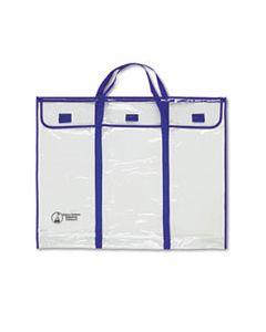 "CDPCD5638 BULLETIN BOARD STORAGE BAG, BLUE/CLEAR, 30"" X 24"""