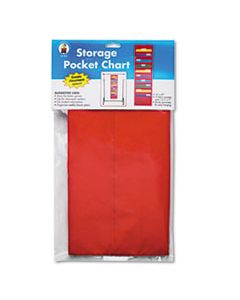 CDPCD5653 STORAGE POCKET CHART WITH 10 13 1/2 X 7 POCKETS, HANGER GROMMETS, 14 X 47
