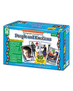 CDPD44044 PHOTOGRAPHIC LEARNING CARDS BOXED SET, PEOPLE AND EMOTIONS, GRADES K-12