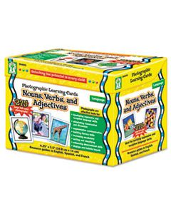 CDPD44045 PHOTOGRAPHIC LEARNING CARDS BOXED SET, NOUNS/VERBS/ADJECTIVES, GRADES K-12