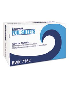"BWK7162 STANDARD ALUMINUM FOIL POP-UP SHEETS, 9"" X 10 3/4"", 500/BOX, 6 BOXES/CARTON"