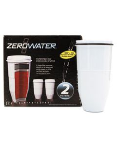 AVAZR017 ZEROWATER REPLACEMENT FILTERING BOTTLE FILTER, 2/PACK