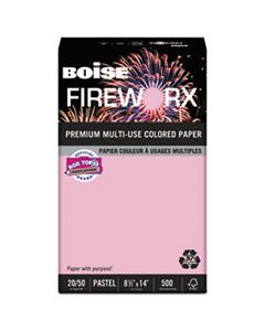CASMP2204PK FIREWORX PREMIUM MULTI-USE COLORED PAPER, 20LB, 8.5 X 14, POWDER PINK, 500/REAM
