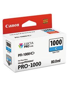 CNM0547C002 0547C002 (PFI-1000) LUCIA PRO INK, 80 ML, CYAN