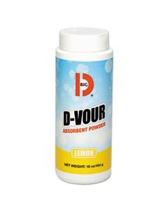 BGD166 D-VOUR ABSORBENT POWDER, CANISTER, LEMON, 16OZ, 6/CARTON