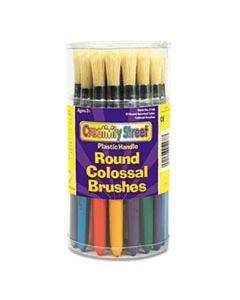 CKC5168 COLOSSAL BRUSH, NATURAL BRISTLE, ROUND, 30/SET