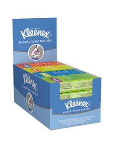 KCC11975 ON THE GO PACKS FACIAL TISSUES, 3-PLY, WHITE, 10 SHEETS/PACK, 16 PACKS/BOX, 12 BOXES/CARTON